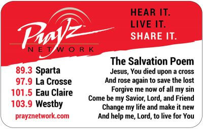The Salvation Poem Card