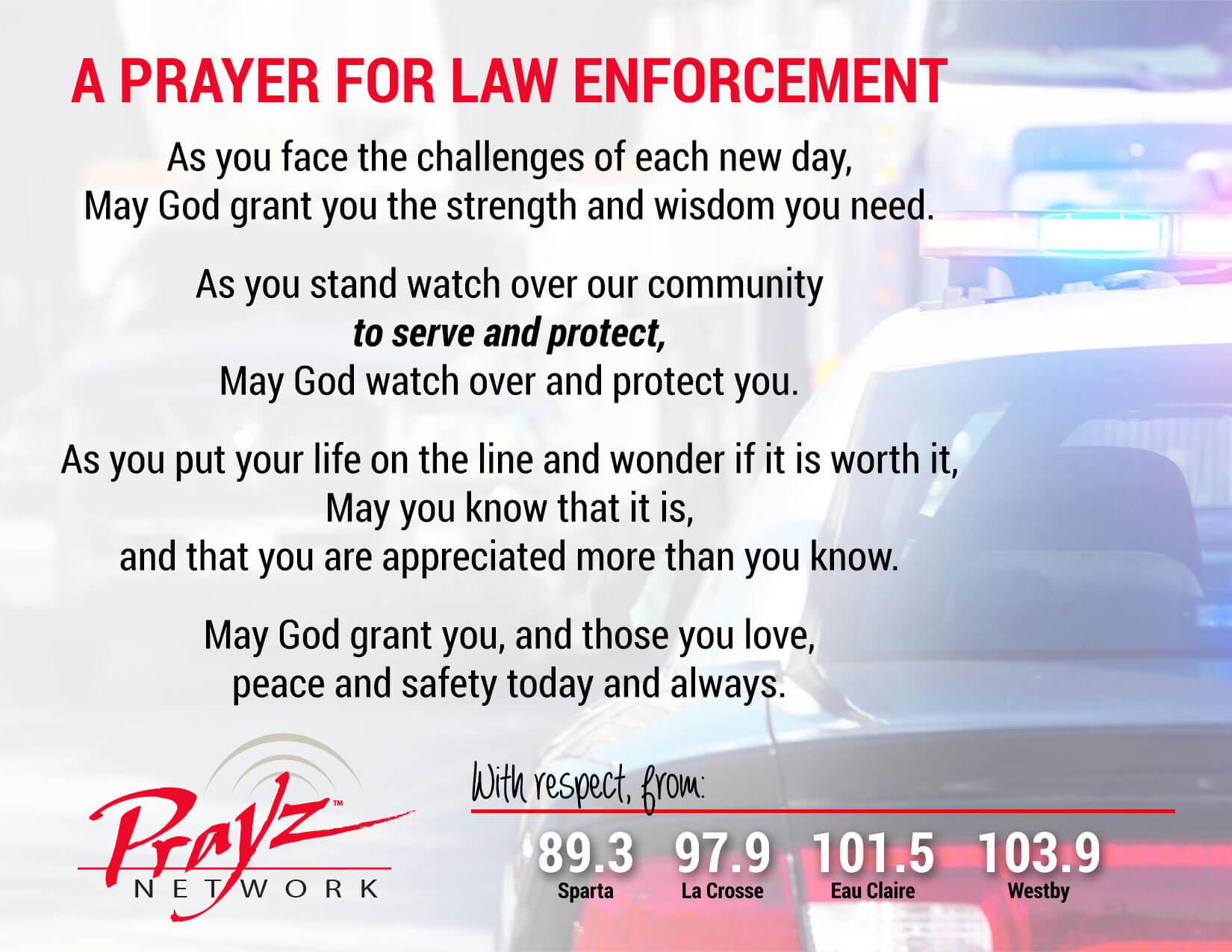 Bless a Law Enforcement Officer with a Prayer Card : Prayz